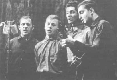 Квартет физфака МГУ, 1965 год: С.Смирнов, А.Монахов, Б.Геллер, С.Никитин